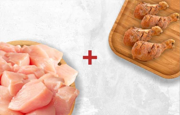 Chicken Boneless (Cubes) 500g & Smoky Chicken Tandoori (4 pcs)