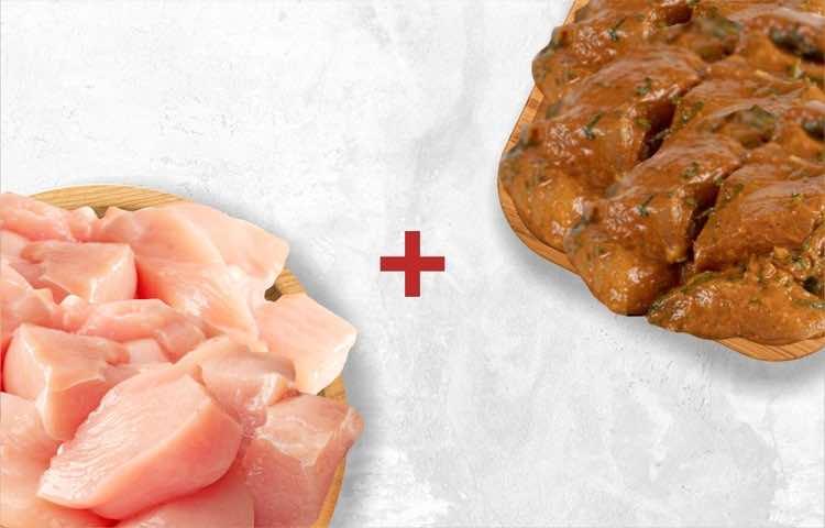 Chicken BL Cubes 500g & Chicken 65 Boneless 250g