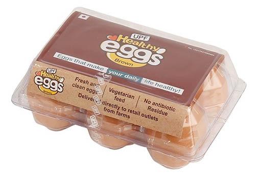 UPF Healthy Eggs Brown 6 Pcs
